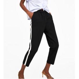 Zara Chino Trousers with Side Stripe